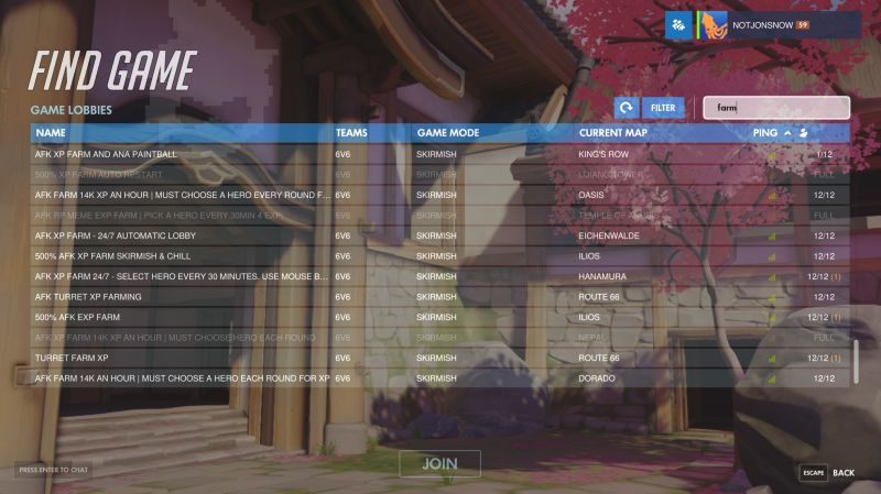 Overwatch – Mặc kệ rooms 18+ Blizzard cứng rắn với rooms cày EXP