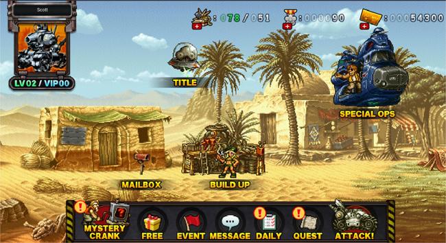 Metal Slug Attack: cuộc chiến Rambo lùn đã có mặt trên google play