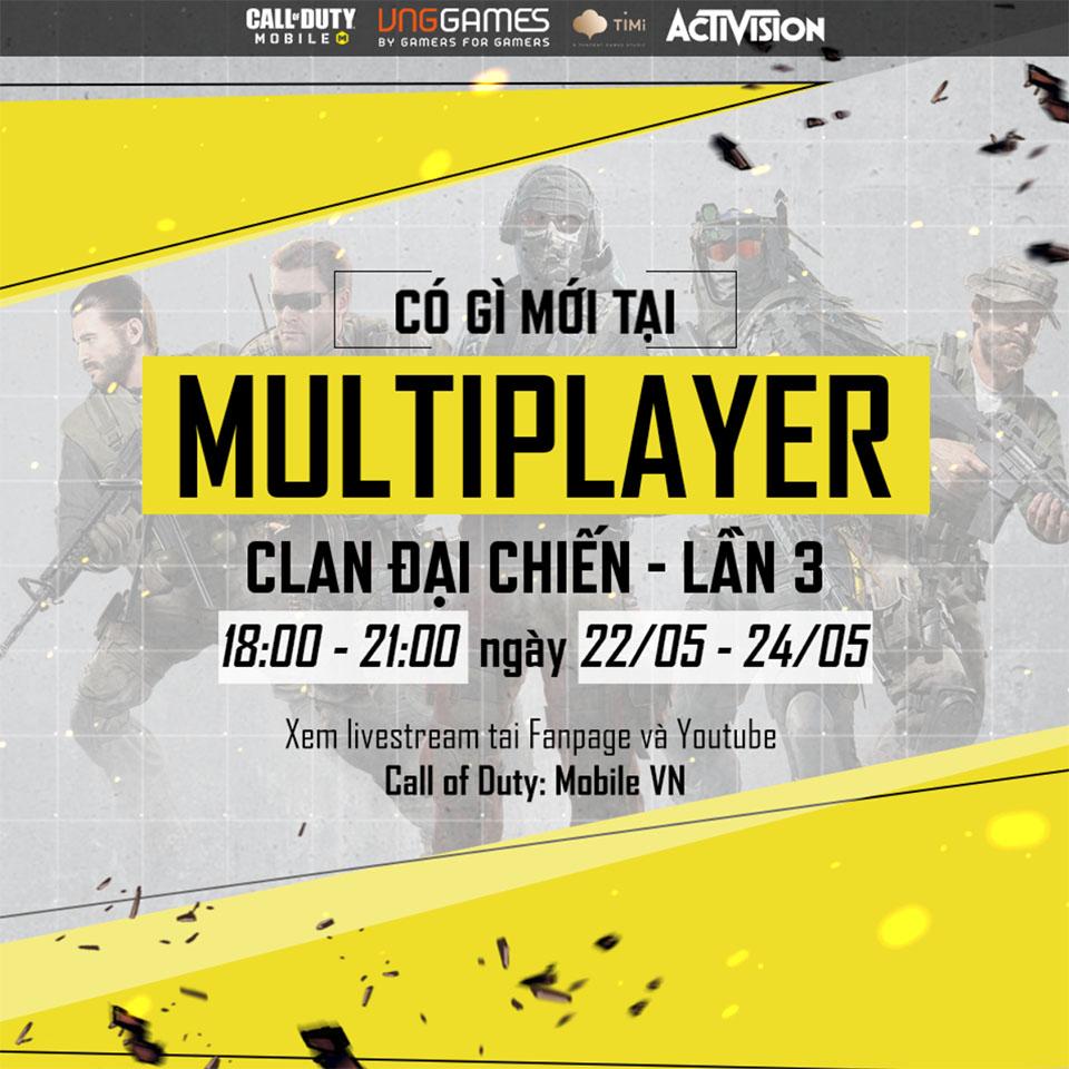 """Call of Duty: Mobile VN – Những đổi mới tại """"Clan đại chiến"""" lần 3"""