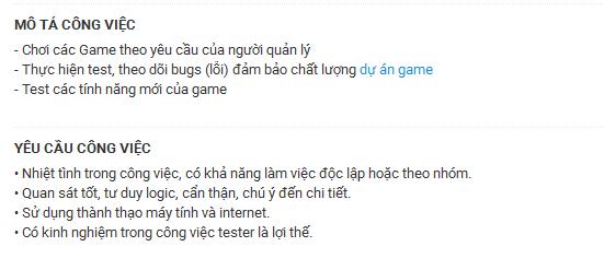 Công việc mơ ước của triệu game thủ Việt Nam: chơi thử game