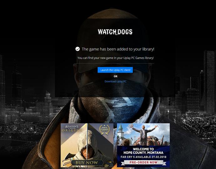 Sở hữu ngay bom tấn Watch Dogs đang được miễn phí thời gian ngắn