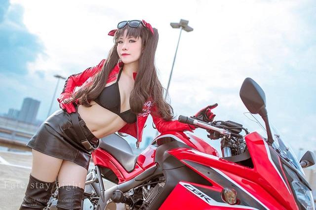 Cosplay mỹ nữ Rin Tohsaka cực ngầu đầy quyến rũ trong Fate/Stay Night