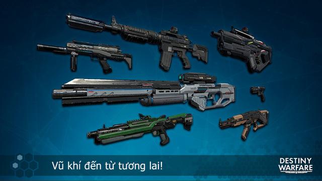 Game thủ Việt đã có thể tải Destiny Warfare - FPS đấu mạng đồ họa đẹp điên dại trên Mobile