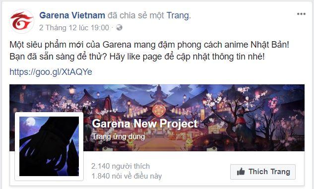 Garena bất ngờ thông báo phát hành Onmyoji - Âm Dương Sư Online tại Việt Nam