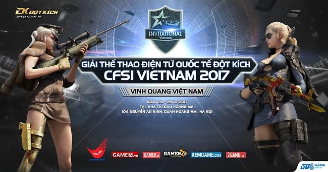 5 Quốc kì hội tụ trong giải đấu Đột Kích Quốc tế CFSI Việt Nam 2017