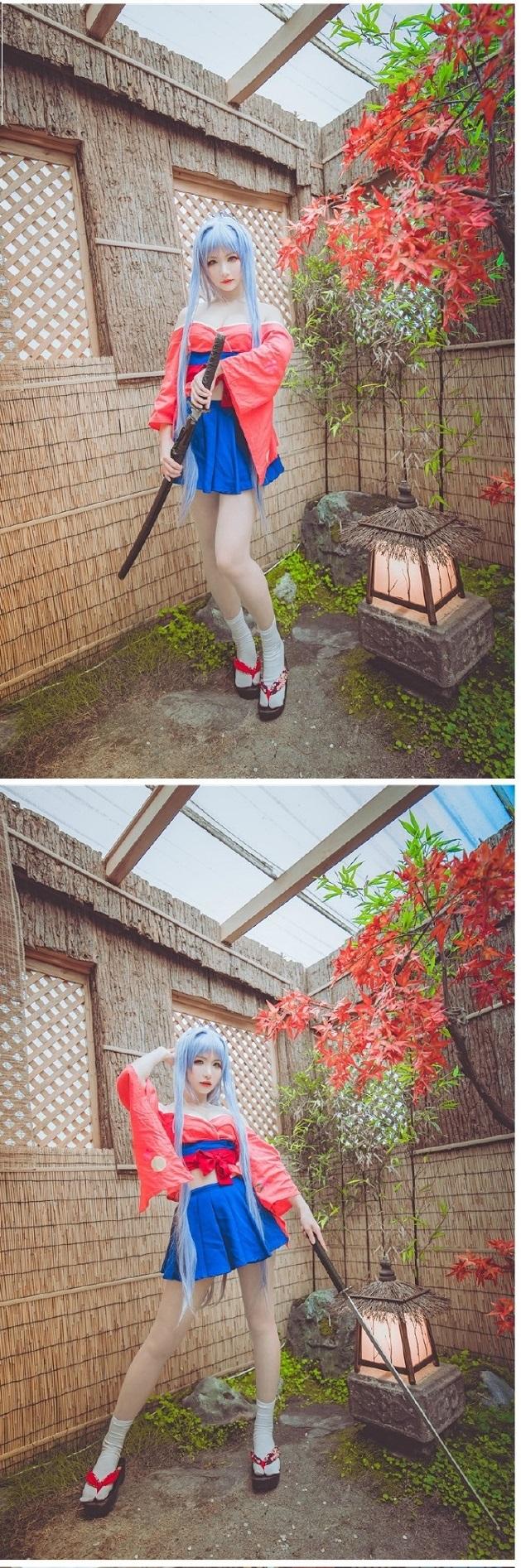 """""""Chết ngộp"""" với bộ ảnh cosplay từ anime Tenjou Tenge cực nóng bỏng"""