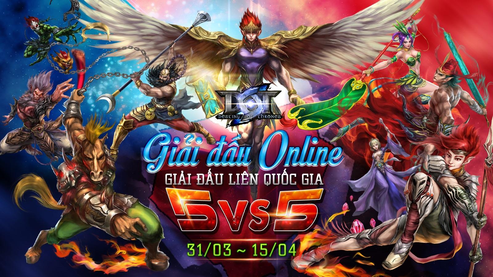Tưng bừng chào đón giải đấu DOT - Tournament Online 5vs5
