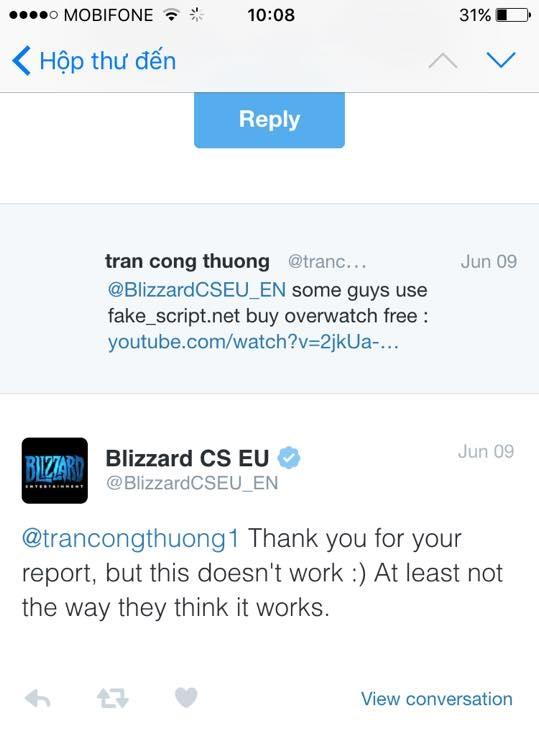 Chính Blizzard đã phủ nhận điều này