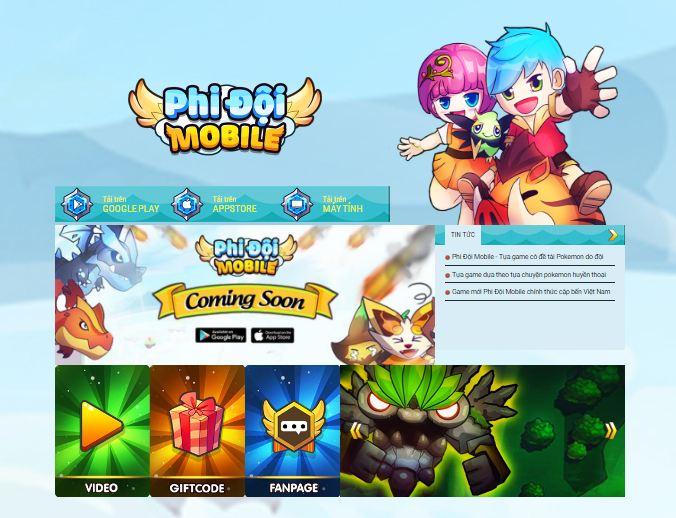 Phi Đội Mobile ra mắt trang chủ, công bố ngày ra mắt