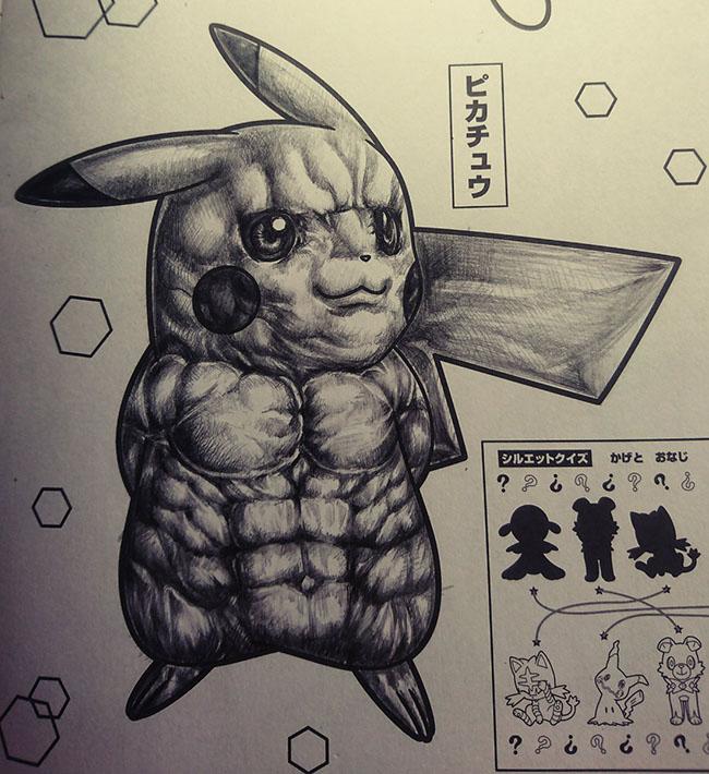 Khi họa sỹ tô màu làm Pikachu trở nên bẩn bựa