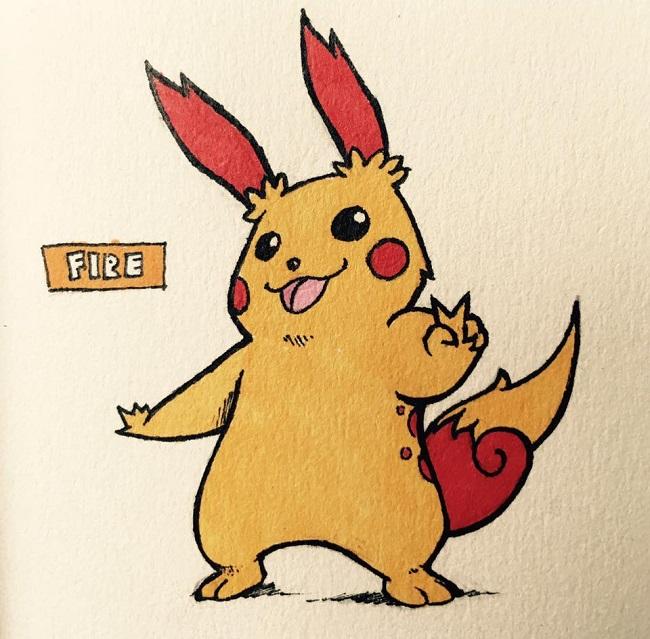 Bộ ảnh: sẽ ra sao nếu tất cả Pokemon đều mang cho mình hệ Lửa/ Giác Đấu?