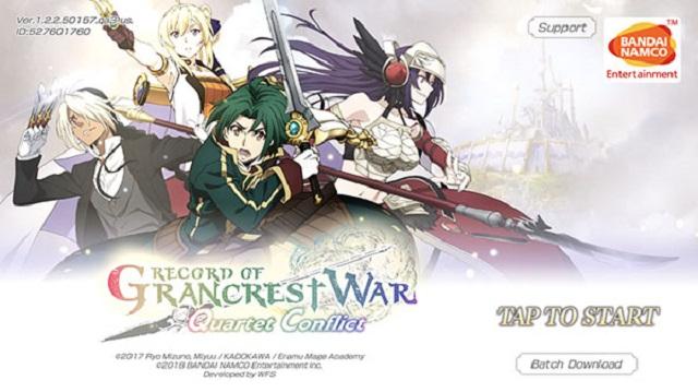 Record of Grancrest War: Quartet Conflict - Tựa game hành động ấn tượng từ Bandai Namco