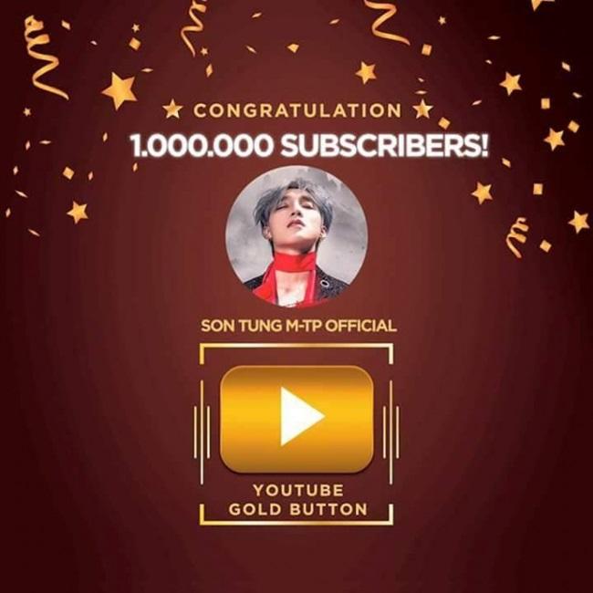 Sếp Tùng – Ca sĩ Việt đầu tiên nhận nút Vàng YouTube