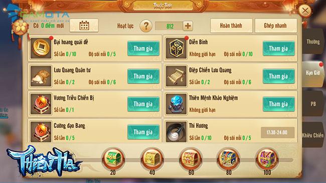 """5 lý do khiến game thủ """"chết mê"""" Thiên Hạ Gamota"""