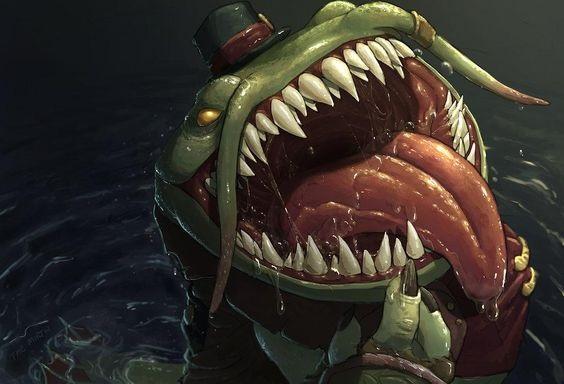 Tahm Kench – hiện thân đáng sợ của loài thủy quái qua các tác phẩm fan art