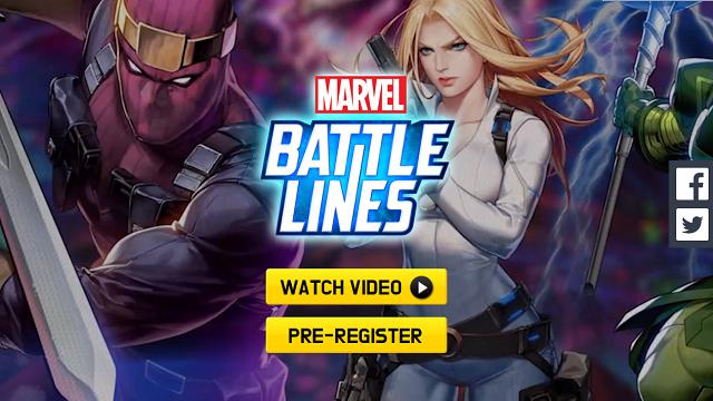 Bom tấn siêu anh hùng MARVEL Battle Lines đã mở cửa đăng ký sớm