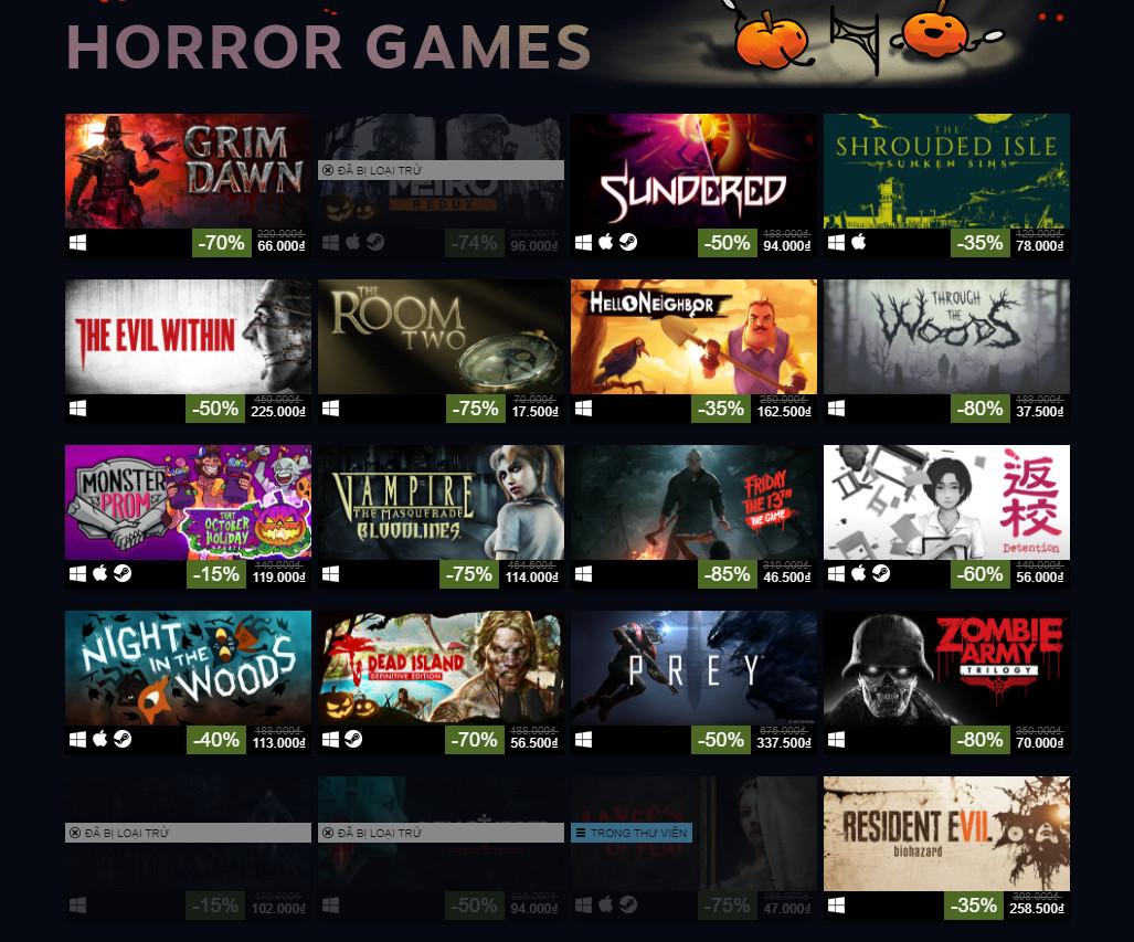 Steam đang giảm giá shock một loạt các tựa game kinh dị dịp Halloween Sale 2018