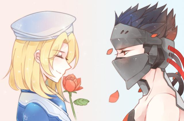 """Khi couple Genji và Angela trong Overwatch """"hoá thân"""" phong cách anime"""
