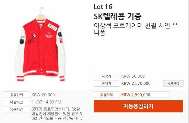 LMHT: Choáng với số tiền đấu giá kiếm được từ chiếc áo khoác có chữ kí Faker