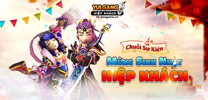 Yulgang Hiệp Khách Dzogame VN [Chuoi Su Kien] Mung Sinh Nhat Hiep Khach (1) [09.2021]
