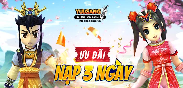 Yulgang Hiệp Khách Dzogame VN [Uu dai] Nap 3 Ngay Nhan Qua (2) (06.2021)