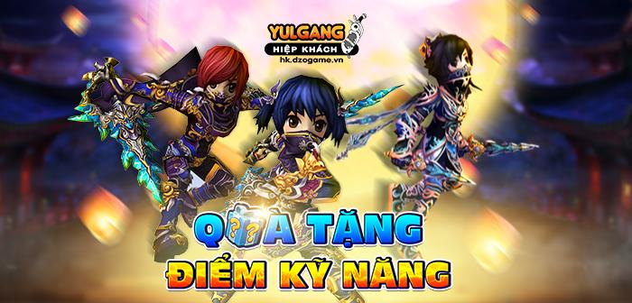 Yulgang Hiệp Khách Dzogame VN [Qua tang] Diem ky nang (2) (06.2021)