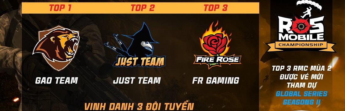 ROS Mobile Championship Season 2: GAO xuất sắc lên ngôi vô địch, cùng JUST và FireRose hướng đến giải đấu quốc tế Global Series
