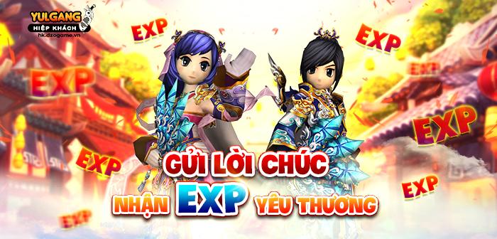Yulgang Hiệp Khách Dzogame VN Gui Loi Chuc Nhan Kinh Nghiem Yeu Thuong (06.2021)