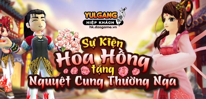 Yulgang Hiệp Khách Dzogame VN [Su kien] Hoa Hong Do Cho Nguyet Cung Thuong Nga (10.2021)