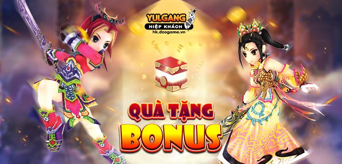 Yulgang Hiệp Khách Dzogame VN Qua Tang Bonus (Dac Biet) (06.2021)