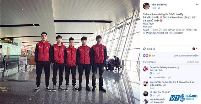 Tuyển Đột Kích Việt Nam đã lên đường tham dự giải đấu triệu đô CFS Grand Finals 2017