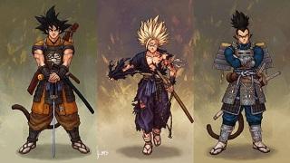 Lạ lẫm với hình ảnh nhân vật Dragon Ball hóa thân thành Samurai
