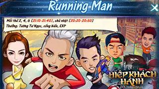 Có gì thú vị ở Running man trong webgame Hiệp Khách Hành?