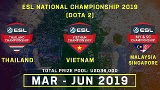 ESL Asia mở rộng hệ thống giải đấu Dota 2 National Championship Việt Nam