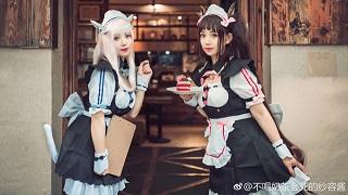 Truỵ tim với cosplay Chocola & Vanilla hầu gái cực yêu trong NEKOPARA