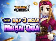 Yulgang Hiệp Khách Dzogame VN - [Quà tặng] Ưu đãi Nạp 3 ngày (04.2021) - 20042021