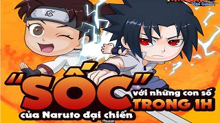 """Infographics - Những con số gây """"sốc"""" trong 1 giờ của Naruto Đại Chiến Mobi"""