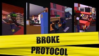 Sở hữu miễn phí Broke Protocol: Game kết hợp GTA và Minecraft độc đáo