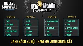 20 đội mạnh nhất Việt Nam tham dự chung kết ROS Mobile Championship