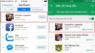 Crossfire Legends lên đỉnh iOS sau 1 ngày ra mắt