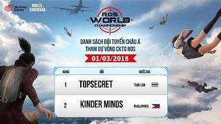 TeamVN đạt top 15 Châu Á giải quốc tế Rules of Survival World Championship