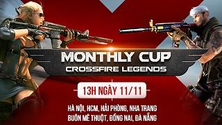 Cộng đồng CrossFire Legends háo hức chuẩn bị tham gia Monthly Cup tháng 11 trên 7 tỉnh thành