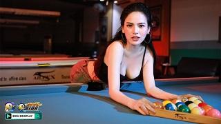 """""""Thánh nữ Mì Gõ"""" Phi Huyền Trang khoe đường cong bên bàn bida"""