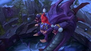 Baron đội mũ ông già Noel giữa mùa đông trắng xóa trên bản đồ Summoners Rift