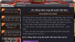 CrossFire Legends: Đồng hành Chung Kết cùng ĐTQG Việt Nam nhận ngay vũ khí cận chiến VIP miễn phí