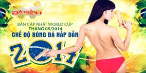 Hot girl Đột Kích ngực trần bên trái bóng World Cup