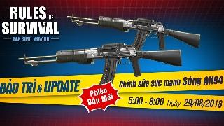 Bản tin ROS Mobile: AN94, Vector, PP19 thay đổi lực sát thương trong update mới nhất ngày 29/8