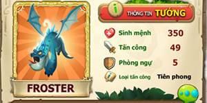 Tặng 300 code khủng long tướng Dino Froster game Advance Dino