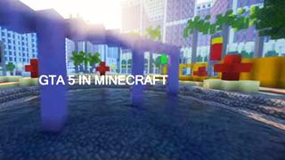 Thế giới bạo lực đẫm máu GTA được tái hiện trong Minecraft