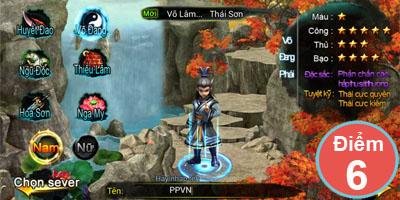 Game 6D Võ Lâm đáp ứng tốt sở thích của dân mê game võ hiệp